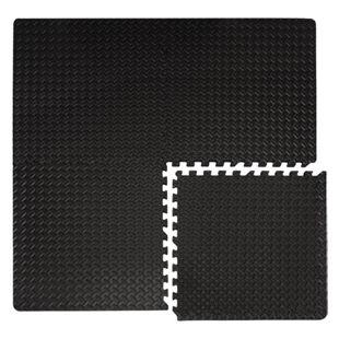 4 Bodenmatten 63x63cm 2cm Puzzlematte Fitnessmatte Gymnastik Sportmatte Schwarz