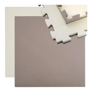 Sportmatte 90x90cm Sportmatte 25mm dicke Puzzlematte Wende Bodenmatte erweiterbar inkl. Umrandung