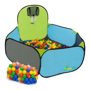 LittleTom Spielzelt Popup Kinderzelt Bällebad-Pool Pumba inkl. 200 Bällebadbällen