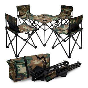 Campingtisch Camouflage + 4 Stühle EPR-YU-113