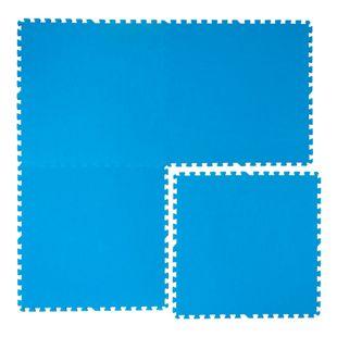 Pool Bodenschutz Fliesen Matten 81x81 cm Blau Puzzlematte