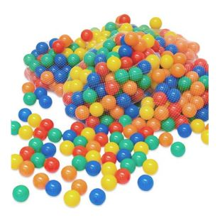 LittleTom 700 bunte Bälle für Bällebad 6cm Babybälle Plastikbälle Baby Spielbälle
