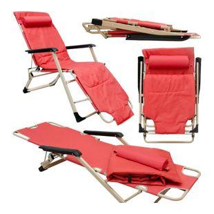 Faltbare Campingliege 178cm Gartenliege Sonnenliege Liegestuhl 150kg Strandliege