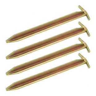 Extra Stabil 4 Stahl Erdnägel T-Profil 300x25mm Heringe Harte Böden Zeltnägel