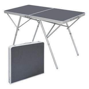 Standfester Aluminium Campingtisch 120x60x70cm Stabiler Klapptisch Alu-Falttisch