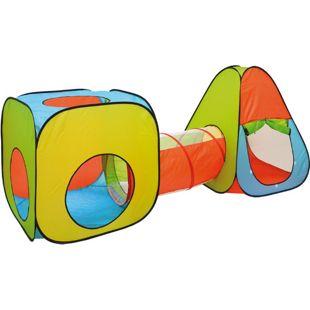 Bällebad Spielzelt Set 260x90x100cm Popup Spielhaus Kinder Zelt Tunnel