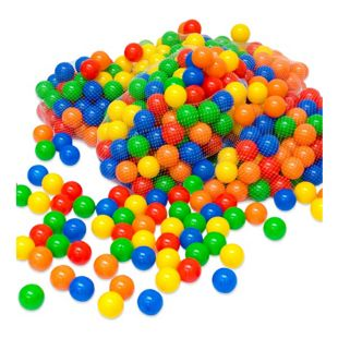 500 bunte Bälle für Bällebad 5,5cm Babybälle Plastikbälle Baby Spielbälle
