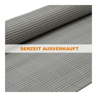 PVC Sichtschutzmatte 90 x 300 cm Grau