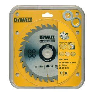 DeWalt Handkreissägeblatt DT1145 Holz Kreissäge Blatt Ø 165mm Sägeblatt Werkzeug