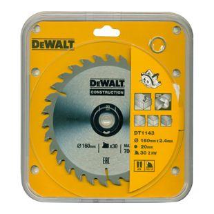 DeWalt Handkreissägeblatt DT1143 Kreissäge Blatt Ø 160mm Sägeblatt Werkzeug