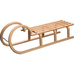 Hörnerschlitten Colint 110 cm Holzschlitten Holz Rodel Schlitten 180kg