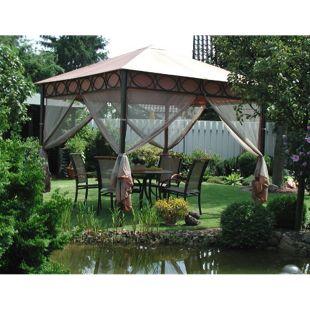 Design Leco Pavillon Safari 3x3m Gartenmöbel Festzelt Partyzelt Pavillion