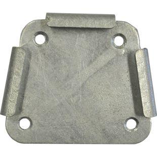 Adapterplatte für Leco Standpfosten Endhülse Seitenmarkise Markise Sichtschutz