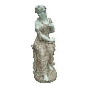 Gartenfigur Frau 94cm Garten Figur Deko Teichfigur Statue Skulptur Dekoration