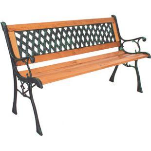 Garden Pleasure Parkbank Windsor Metall Holz Garten Bank Sitzbank Möbel