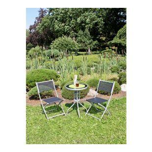 Garden Pleasure Balkon Set Stahl Garten Terrasse Tisch Klappstuhl Stuhl Stühle