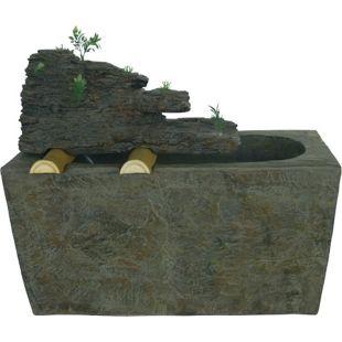 67cm Brunnen Stein Optik Wasserspiel Springbrunnen Garten Wasser Deko