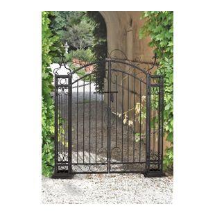 Garden Pleasure Stahl Pforte Zaun Garten Eingang Tor Edel Rost Antik Optik