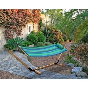 Garden Pleasure Hängematte Holz Gestell Hängeliege Matte Garten Terrasse Möbel