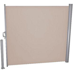 Seitenmarkise 160x300 Alu Seitenwandmarkise Markise Windschutz Sichtschutz beige
