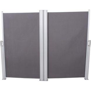 Doppel Seitenmarkise 160x600 Seitenwandmarkise Markise Windschutz Sichtschutz