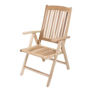 Garden Pleasure Teak Hochlehner Java Holz Garten Stuhl Sessel Möbel klappbar