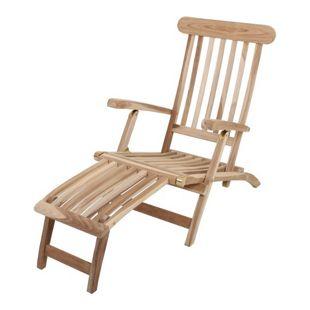 Garden Pleasure Teak Deckchair Garten Holz Relax Liege Sonnenliege Möbel