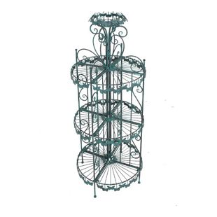 Metall Pflanzregal  Standregal Blumensäule Garten Regal Terrasse Balkon Deko