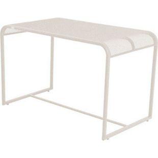 Metall Balkontisch 110x63 Beistelltisch Garten Balkon Terrasse Tisch beige