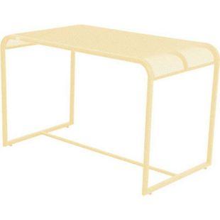 Metall Balkontisch 110x63 Beistelltisch Garten Balkon Terrasse Tisch gelb