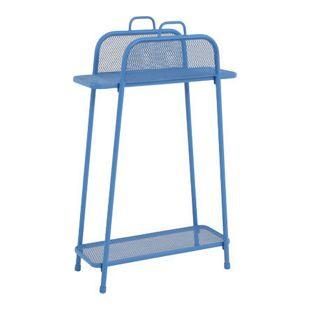 Metall Balkonregal blau Balkon Garten Terrasse Regal Standregal Möbel Tisch