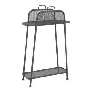 Metall Balkonregal grau Balkon Garten Terrasse Regal Standregal Möbel Tisch