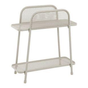 Metall Balkonregal beige Balkon Garten Terrasse Regal Standregal Möbel Tisch