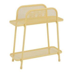 Metall Balkonregal gelb Balkon Garten Terrasse Regal Standregal Möbel Tisch