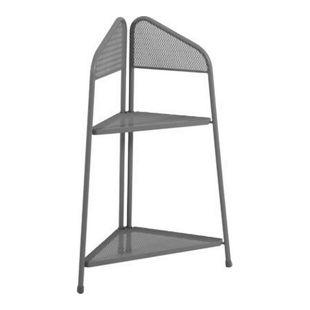 Metall Balkon Eckregal Regal Standregal Ablage Aufbewahrung Eckschrank grau