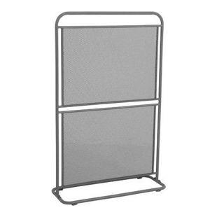 Metall Balkon Sichtschutz 124x80 Windschutz Larmschutz Garten Terrasse grau