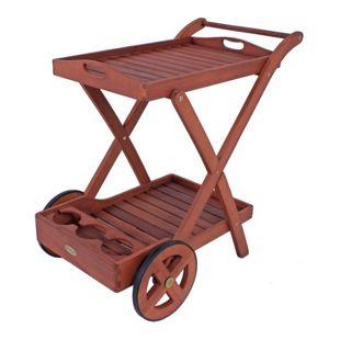 Garden Pleasure Teewagen Toledo Eukalyptus Holz Servierwagen Küchenwagen