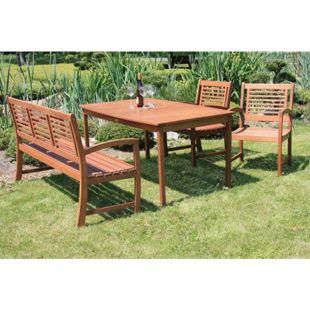 Garden Pleasure Holz Armsessel Madison Gartenstuhl Garten Sessel Stuhl Möbel