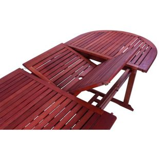 Garden Pleasure Garten Tisch Stockholm Eukalyptus Holz Esstisch oval ausziehbar