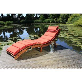 Garden Pleasure Faltliege Nassau + Auflage Sonnenliege Garten Liege Relaxliege
