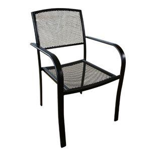 2x Garden Pleasure Metall Stapelstuhl Garten Balkon Terrasse Stuhl Sessel Stühle