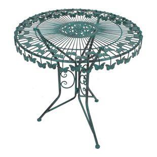 Garden Pleasure Metall Balkon Tischgruppe Garten Tisch + Stuhl Stühle Antik Look
