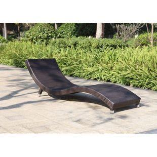 Garden Pleasure Sonnenliege Caracas + Auflage Relaxliege Garten Liege Möbel