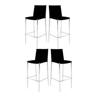 4x Flexfurn Barhocker Spectra Hocker Bar Stuhl Set Stühle Gastronomie schwarz