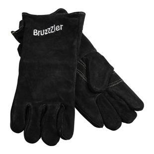 Grillhandschuhe Ofenhandschuhe Leder Kamin Grill Handschuhe Grillzubehör schwarz