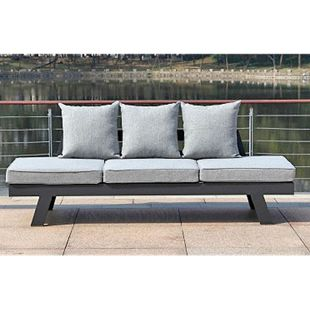 Funktionssofa DONNA Gartenmöbel Liege Sofa Couch + Sitzauflagen Rückenkissen