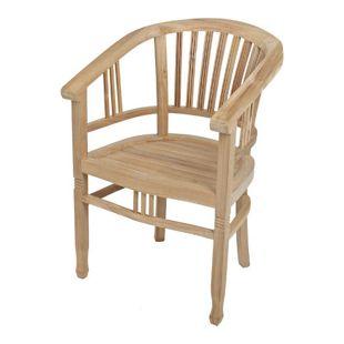 Gartenstuhl RINCA Gartensessel Gartenmöbel Garten Teak Stuhl Armsessel Sessel