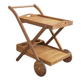 GardenPleasure Teewagen Holz Servierwagen Küchenwagen Beistelltisch Tisch Garten