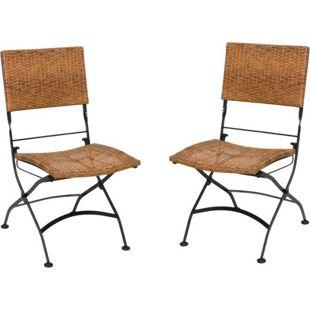 Klappstuhl GRAZ Gartenstuhl 2er Set Klappsessel Sessel Stuhl Garten klappbar