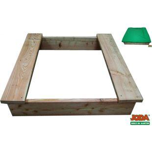 Joda Sandkiste Marie 110x110 Sandkasten aus Lärche mit Abdeckplane